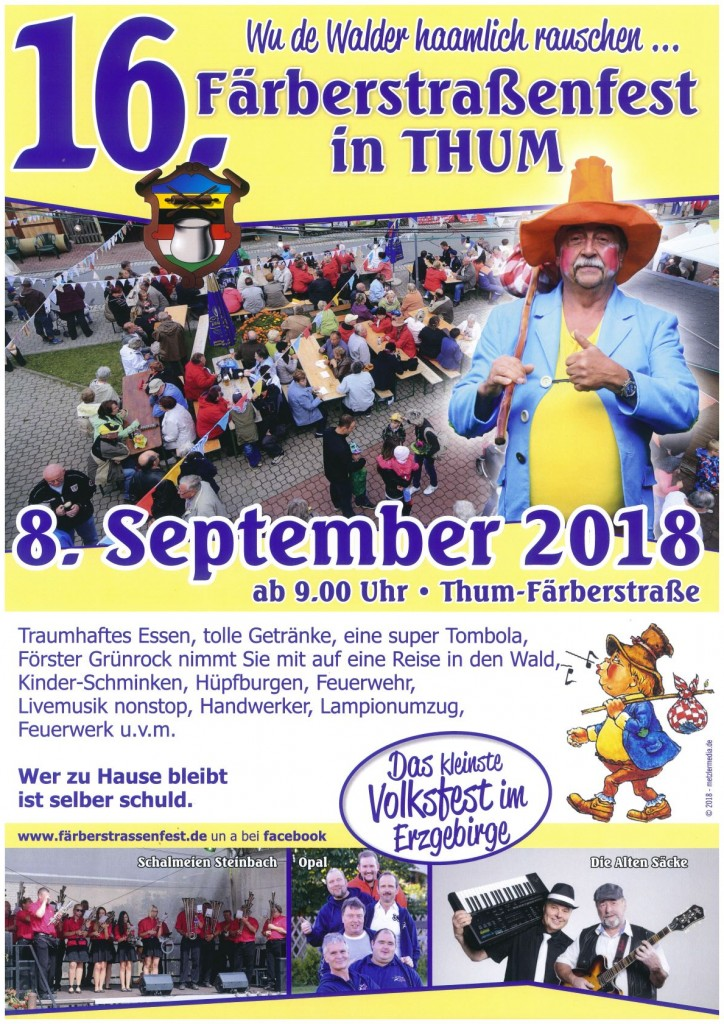 16. Färberstraßenfest in Thum