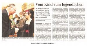 Artikel Freie Presse Flöha vom 18.04.11